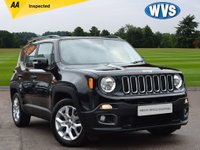 USED 2016 16 JEEP RENEGADE 1.6 M-JET LONGITUDE 5d 118 BHP This is an August 2016 Jeep Renegade 1.6 Multijet LONGITUDE in black with just 12000 miles. AA inspected.