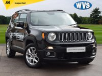 USED 2016 16 JEEP RENEGADE 1.4 LONGITUDE 5d 138 BHP A 1 owner August 2016 Jeep Renegade 1.4 Multiair LONGITUDE in black with only 18000 miles, with service history, 2 keys and an independent AA inspection.