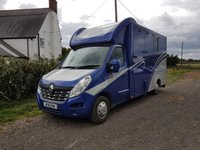 2016 RENAULT HORSE BOX WITH NEW CONVERSION RENAULT MASTER HORSEBOX 3.5 T BLOOMFIELDS LEGACY SLE £44990.00