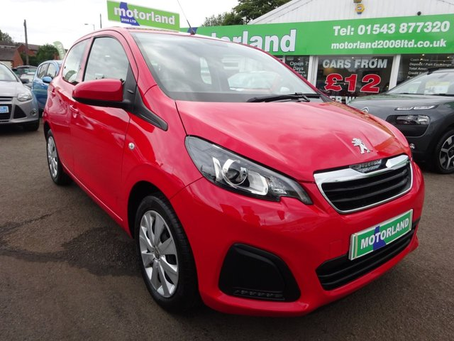 USED 2016 16 PEUGEOT 108 1.0 ACTIVE 5d 68 BHP £0 DEPOSIT FINANCE AVAILABLE....1 PRIVATE OWNER FROM NEW....FULL SERVICE HISTORY