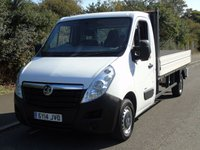 USED 2014 14 VAUXHALL MOVANO F3500 2.3CDTI 123BHP LWB L3 12FT 10IN DROPSIDE TRUCK +AIR-CON+ELEC PACK+1OWNER