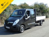 USED 2012 12 VAUXHALL MOVANO F3500 2.3CDTI 123BHP LWB CREW CAB 10FT 7IN DROPSIDE TRUCK +1 OWNER+ ELEC PACK+EURO 5+