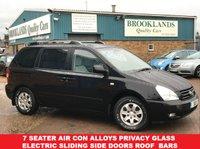 2006 KIA SEDONA 2.9 LS 5d 183 BHP Family 7 Seater MIDNIGHT BLACK  £2695.00