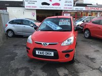 USED 2010 10 HYUNDAI I10 1.2 CLASSIC 5d 77 BHP 36000 miles, economical, low road tax, 5 door, great reliability, superb