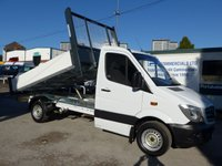 USED 2014 14 MERCEDES-BENZ SPRINTER 313 CDI MWB AUTOMATIC TIPPER, 130 BHP [EURO 5], LOW MILES