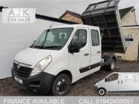 USED 2015 65 VAUXHALL MOVANO 2.3 CDTI L3H1 R3500 Crewcab Tipper DRW 4dr LOW MILEAGE, 15 MONTH WARRANTY
