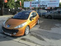 USED 2008 08 PEUGEOT 207 1.6 GT 3d 148 BHP FINANCE AVAILABLE FROM £27 PER WEEK OVER TWO YEARS - SEE FINANCE LINK