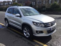 USED 2014 14 VOLKSWAGEN TIGUAN 2.0 R LINE TDI BLUEMOTION TECHNOLOGY 4MOTION 5d 139 BHP OUR  PRICE INCLUDES A 6 MONTH AA WARRANTY DEALER CARE EXTENDED GUARANTEE, 1 YEARS MOT AND A OIL & FILTERS SERVICE. 6 MONTHS FREE BREAKDOWN COVER.