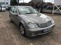 USED 2005 55 MERCEDES-BENZ C CLASS 2.1 C220 CDI ELEGANCE SE 5d AUTO 148 BHP FULL SERVICE HISTORY-AUTOMATIC-LEATHER-ESTATE-DIESEL-EXCELLENT CONDITION
