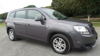 USED 2012 12 CHEVROLET ORLANDO 2.0 LTZ VCDI 5d AUTO 163 BHP VEHICLE SPEC : AUTOMATIC, AIR-CONDITIONING, ALLOYS, CD-PLAYER, ELECTRIC FOLDIMG MIRRORS, ELECTRIC WINDOWS, REMOTE LOCKING, 7 SEATER, METALLIC PAINT,