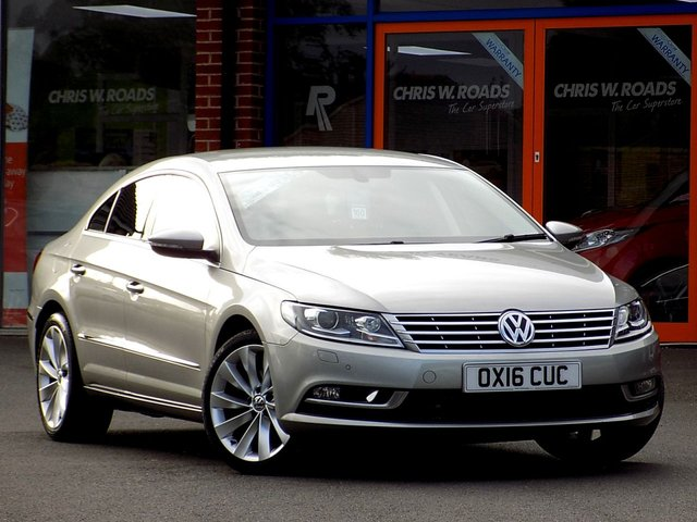 USED 2016 16 VOLKSWAGEN CC 2.0 GT TDI BLUEMOTION TECHNOLOGY DSG 4dr (140) ** Leather + Sat Nav + Cruise **