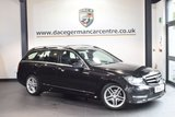 USED 2014 14 MERCEDES-BENZ C CLASS 2.1 C220 CDI AMG SPORT EDITION 5DR 168 BHP full service history OBSIDIAN BLACK WITH HALF BLACK LEATHER INTERIOR + FULL SERVICE HISTORY + BLUETOOTH + SATELLITE NAVIGATION + CRUISE CONTROL + DAB RADIO + 17 INCH ALLOY WHEELS