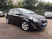 USED 2013 13 VAUXHALL CORSA 1.4 SE 5d  WITH LOW MILEAGE AND AIR CONDITIONING   NO DEPOSIT  PCP/HP FINANCE ARRANGED, APPLY HERE NOW