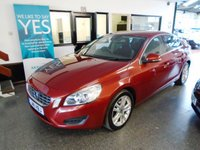 USED 2011 11 VOLVO S60 2.0 D3 SE 4d AUTO 161 BHP This low mileage S60 is finished in metallic red with Black part leather seats. It is fitted with power steering, remote locking, dual climate control, electric windows x 4, mirrors with power fold, climate control, cruise control, rear parking sensors, alloy wheels, CD Stereo and more. It has had three owners from new , the last a male. It comes with a full service consisting of 8 stamps, last done @ 37212 miles. The current advisory free Mot runs till June 2019.