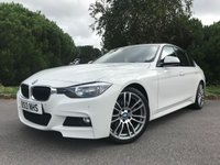 USED 2013 BMW 3 SERIES 3.0 330D M SPORT 4d AUTO 255 BHP 330D M SPORT SALOON, AUTOMATIC, ALPINE WHITE WITH RED LEATHER, GREAT SPEC!!