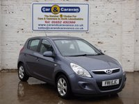 USED 2011 11 HYUNDAI I20 1.2 COMFORT 5d 77 BHP Full Service History Bluetooth 0% Deposit Finance Available