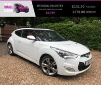 USED 2012 61 HYUNDAI VELOSTER 1.6 GDI SPORT (MEDIA PACK) 4d 138 BHP REVERSE CAMERA FULL HEATED LTH SAT NAV PAN GLASS ROOF FULL SERVICE