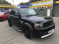 2008 LAND ROVER RANGE ROVER SPORT 3.6 TDV8 SPORT HSE 5d AUTO 269 BHP IN BLACK WITH UPGRADED BLACK ALLOYS £12699.00