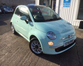 2014 FIAT 500 1.2 LOUNGE 3d 69 BHP £SOLD