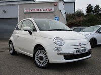 2012 FIAT 500 1.2 LOUNGE 3d 69 BHP £4950.00