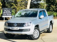 USED 2015 15 VOLKSWAGEN AMAROK 2.0 DC TDI HIGHLINE 4MOTION AUTO 180 BHP Full leather / Heated seats, Roll n Lock sliding cover