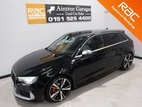 USED 2015 15 AUDI A3 2.5 RS3 SPORTBACK QUATTRO 5d AUTO 362 BHP TRULY AMAZING SPORTS CAR WITH FULL AUDI SERVICE HISTORY JUST HAD ENGINE GEARBOX SERVICE, IT HAS BEEN FOR A 470 BHP RE MAP FROM WAGNA WITH AN INVOICE FOR £4000, COMES WITH A TOP OF THE RANGE BANG AND OLSON SOUND SYSTEM, SAT NAV IT HAS UP GRADED SPORTS SEAT WITH RED STICHING AND MUCH MUCH MORE  for more Information Please Call Now on 0151525 4400,  07967141248. Family Run Business Since 1990