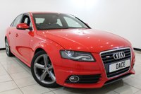 USED 2011 11 AUDI A4 2.0 TDI S LINE 4DR 168 BHP Full Service History  FULL SERVICE HISTORY + HALF LEATHER SEATS + BLUETOOTH + PARKING SENSOR + CRUISE CONTROL + MULTI FUNCTION WHEEL + CLIMATE CONTROL + 18 INCH ALLOY WHEELS