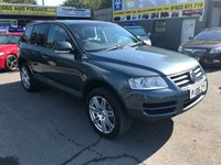 2006 VOLKSWAGEN TOUAREG 3.0 V6 TDI 5 DOOR AUTOMATIC 221 BHP IN METALLIC BLUE WITH 111000 MILES IN IMMACULATE CONDITION. £4799.00