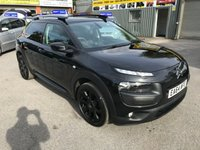 2014 CITROEN C4 CACTUS 1.2 PURETECH FLAIR 5 DOOR 80 BHP IN BLACL WITH SAT NAV AND REVERSE CAMERA AND ONLY 25000 MILES £8699.00