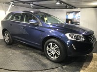 USED 2014 64 VOLVO XC60 2.0 D4 SE 5d AUTO 178 BHP Bluetooth  :  DAB Radio : T-Tec + cloth upholstery      :      Remotely operated tailgate      :      Rear parking sensors   :   Fully stamped Volvo main dealer service history