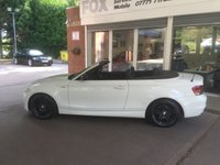 USED 2012 62 BMW 1 SERIES 2.0 118I SPORT PLUS EDITION 2d 141 BHP STUNNING ALPINE WHITE BMW 118I SPORT EDITION CONVERTIBLE