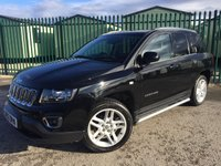 2013 JEEP COMPASS 2.1 CRD LIMITED 5d 161 BHP 4WD LEATHER ONE OWNER £7990.00