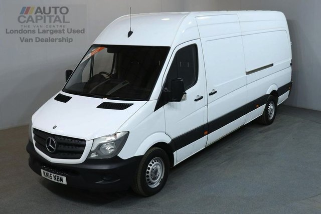 2015 15 MERCEDES-BENZ SPRINTER 2.1 313 CDI LWB 129 BHP H/ROOF PANEL VAN ONE OWNER FULL S/H SPARE KEYS