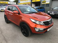 USED 2011 11 KIA SPORTAGE 1.7 CRDI 3 SAT NAV 5 DOOR 114 BHP IN METALLIC ORANGE WITH 66000 MILES APPROVED CARS ARE PLEASED TO OFFER THIS  KIA SPORTAGE 1.7 CRDI 3 SAT NAV 5 DOOR 114 BHP IN METALLIC ORANGE WITH 66000 MILES WITH A GREAT SPEC INCLUDING A PANORAMIC ROOF,6 SPEED GEARBOX,CRUISE CONTROL,ABS BRAKES,ALLOY WHEELS,BLUETOOTH,SAT NAV,REAR CAMERA,HEATED SEATS AND MUCH MORE WITH A FULL SERVICE HISTORY WITH 4 SERVICE STAMPS IN THE SERVICE BOOK A TRULY LOVELY SPORTAGE AT A VERY SENSIBLE PRICE.