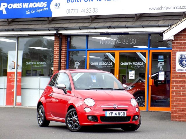 USED 2014 14 FIAT 500 1.2 S 3dr  **ONLY 12000 MILES + 30 Road Tax**