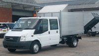 2010 FORD TRANSIT 350 LWB CREW CAB TIPPER WITH A NEW FORESTRY ALLOY BODY 1 OWNER X MOD F/S/H 2 KEYS 12 MONTHS WARRANTY COVER  £10990.00