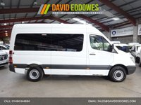 """USED 2012 12 MERCEDES-BENZ SPRINTER 2.1 313 CDI 13 SEAT MINIBUS TRAVELINER 129 BHP 5 SPEED AUTOMATIC ONE OWNER-SERVICE HISTORY """"YOU'RE IN SAFE HANDS"""" - AA DEALER PROMISE"""