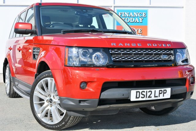 2012 12 LAND ROVER RANGE ROVER SPORT 3.0 SDV6 HSE 4x4 AUTO Great High Spec 5dr Family SUV Stunning in Red and Black