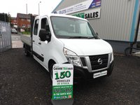 2015 NISSAN NV400 2.3 DCI SE CREW CAB DROPSIDE 125 BHP NO VAT TO PAY 1 OWNER  £12195.00