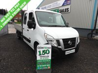 USED 2015 15 NISSAN NV400 2.3 DCI SE CREW CAB DROPSIDE 125 BHP NO VAT TO PAY 1 OWNER  NO VAT TO PAY ON THIS VAN 1 OWNER