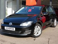 USED 2014 14 VOLKSWAGEN GOLF 2.0 TDI SE BLUEMOTION TECH 5d 150 S/S 1 OWNER FROM NEW, FULL SERVICE HISTORY, £20 ROAD TAX (106 G/KM), MANUAL 6 SPEED GEARBOX, START STOP TECHNOLOGY, DAB RADIO, BLUETOOTH PHONE & MUSIC STREAMING, ADAPTIVE CRUISE CONTROL, LIGHT & RAIN SENSORS WITH AUTO DIMMING REAR VIEW MIRROR, ELECTRIC HEATED DOOR MIRRORS, MDI FOR IPOD/USB DEVICES, DRIVING MODE SELECT, AUTO HILL HOLD, AIR CONDITIONING, 10 SPOKE ALLOYS, GREY CLOTH INTERIOR, LEATHER FLAT BOTTOM MULTI FUNCTION STEERING WHEEL, CD HIFI WITH SD CARD READER, ELECTRIC WINDOWS x4