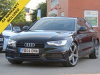 USED 2014 64 AUDI A6 2.0 TDI ULTRA S LINE BLACK EDITION 4d AUTO 188 BHP BOSE SOUND, LEATHER, NAVIGATION + FULL SERVICE HISTORY