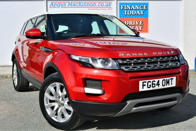 2014 64 LAND ROVER RANGE ROVER EVOQUE 2.2 ED4 PURE TECH Rare FWD Manual Looks Stunning in Red with White Roof