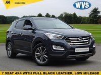 USED 2015 15 HYUNDAI SANTA FE 2.2 CRDI PREMIUM 5d AUTO 194 BHP May 2015 Hyundai Santa Fe 2.2 crdi PREMIUM AUTO 7 seat 4x4 in blue metallic with a black leather interior. 1 keeper with service history and 2 keys.