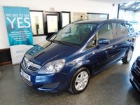 USED 2012 61 VAUXHALL ZAFIRA 1.6 EXCLUSIV 5d 113 BHP Two private owners, full service history, cambelt recently replaced, January 2019 Mot but supplied with 12 months. Finished in Metallic Waterworld.