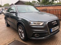 USED 2014 14 AUDI Q3 1.4 TFSI S LINE 5dr AUTO 150 BHP One owner from new, Full Audi History