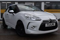 USED 2011 11 CITROEN DS3 1.6 BLACK AND WHITE 3d 120 BHP NO DEPOSIT FINANCE AVAILABLE