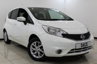 USED 2013 63 NISSAN NOTE 1.2 ACENTA 5DR 80 BHP Cheap Road Tax Excellent Mpg  SERVICE HISTORY + BLUETOOTH + CRUISE CONTROL + MULTI FUNCTION WHEEL + AIR CONDITIONING + RADIO/CD + 15 INCH ALLOY WHEELS