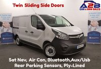 USED 2015 15 VAUXHALL VIVARO 1.6 2900  CDTI 120  BHP Sat Nav, Air Con, Twin Sliding Side Doors, Bluetooth, Reversing Sensors. *Over The Phone Low Rate Finance Available*   *UK Delivery Can Also Be Arranged*