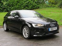 USED 2014 14 AUDI A3 1.4 TFSI SPORT 3d 148 BHP BUY FROM £40 A WEEK & NO DEPOSIT!! FULL AUDI SERVICE HISTORY!